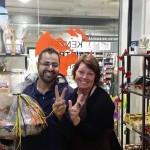 Amir från Sveriges Mästerkock på besök hos Kenzan Fair Trade Shop.